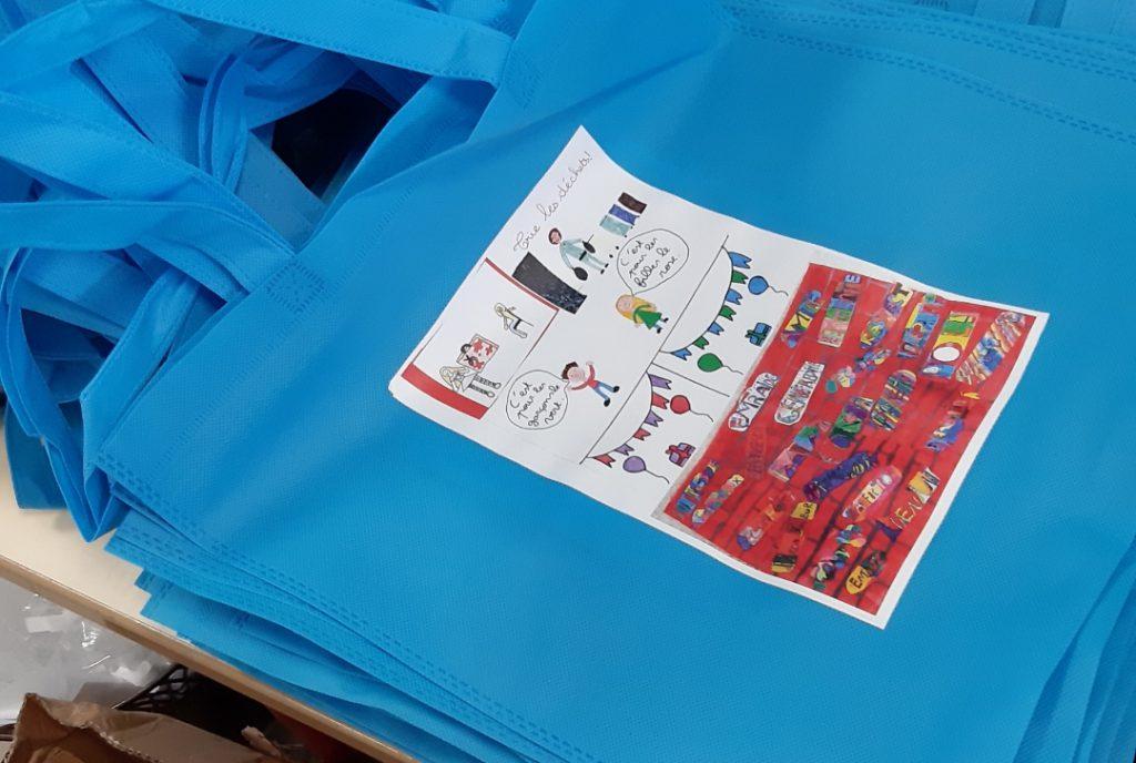 Petit sac shopping pour une école !
