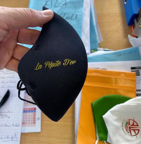 Masque homologué 25 lavages personnalisé 1 logo de 4,50€ à 5€ / pièce
